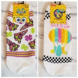 Spongebob Squarepants Squidward + Patrick Sock Set